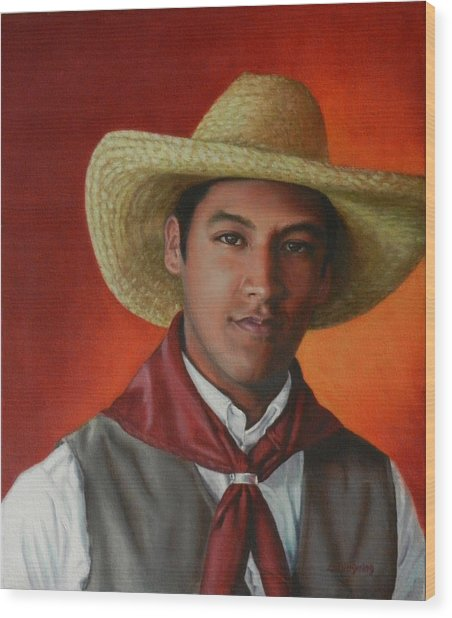 A Smile From The Andes, Peru Impression Wood Print