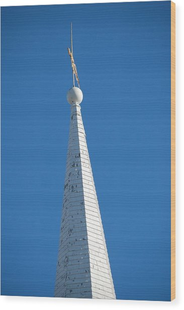A Spire In New England Wood Print by Dickon Thompson