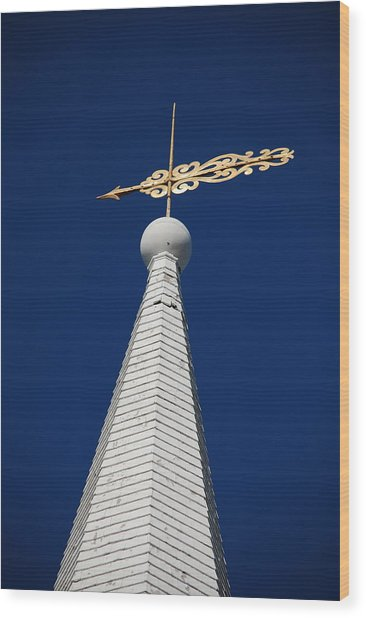 A Spire In New England II Wood Print by Dickon Thompson