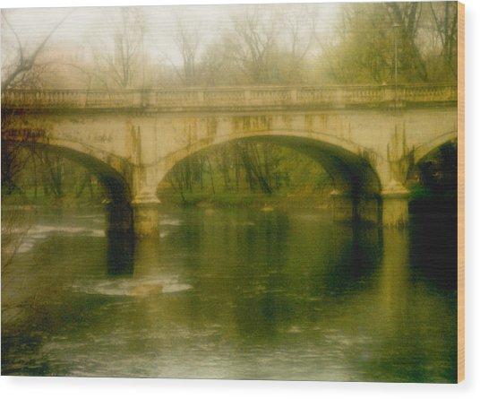 A Spring Bridge Wood Print