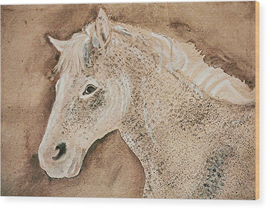 A Stallion Wood Print by Remy Francis