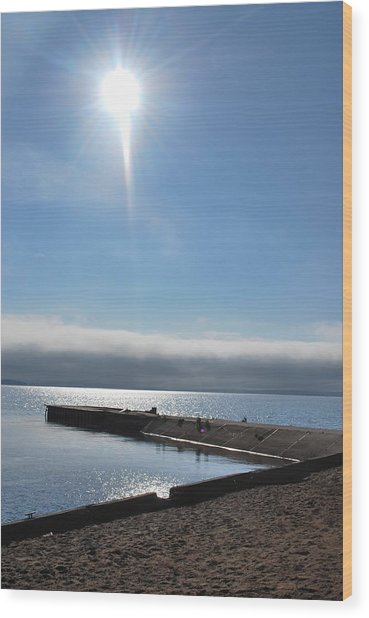 A Star In The Sky Wood Print by Tiffany Ball-Zerges