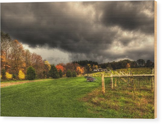 Storm Is Brewing Wood Print