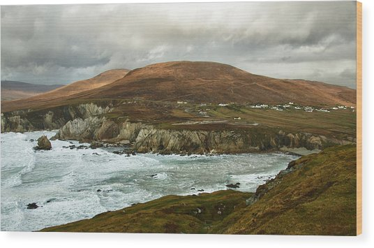 Wood Print featuring the photograph A Stormy Day On Achill Island by Trever Miller