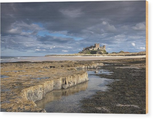 A View Of Bamburgh Castle Bamburgh Wood Print