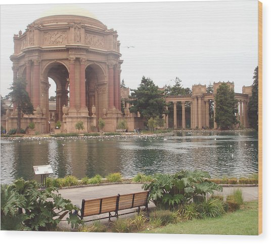 A View Of Palace Of Fine Arts Theatre San Francisco No One Wood Print