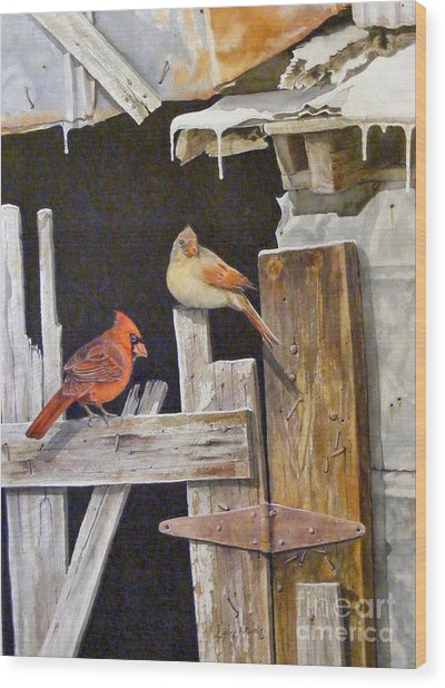 A Visit To Daddy's Barn  Sold Wood Print