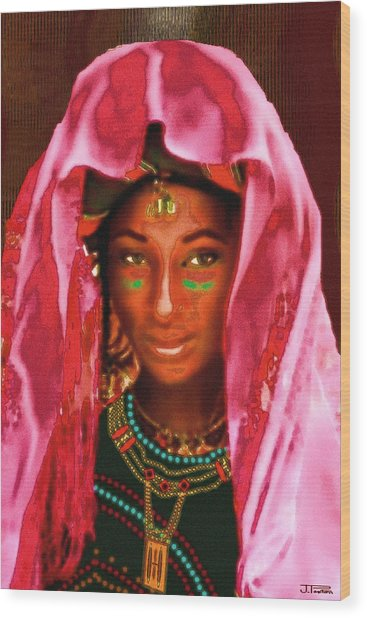 A Wodaabe Bride Wood Print