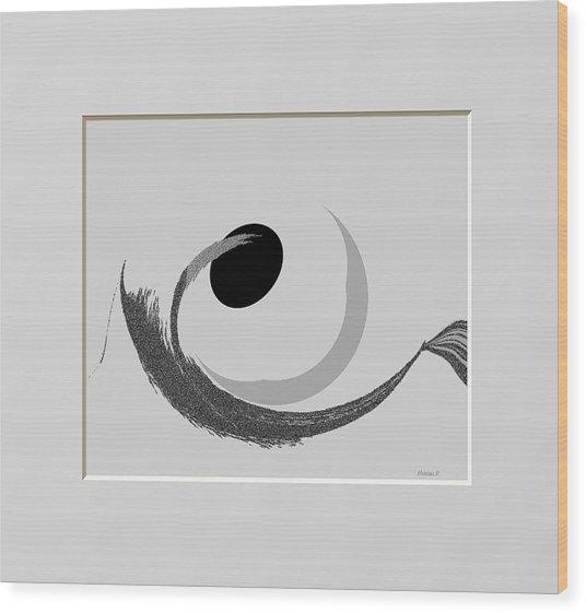 Ab-bb-b Wood Print by Ines Garay-Colomba