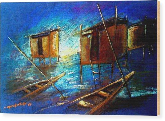 Abandoned At Aleibri Wood Print