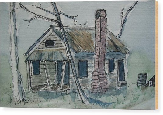 Abandoned Wood Print by Spencer  Joyner