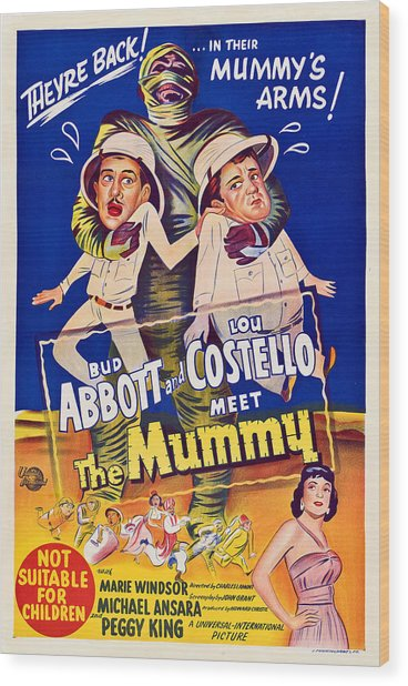 Abbott And Costello Meet The Mummy Wood Print by Everett