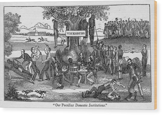Abolitionist Cartoon Entitled, Our Wood Print by Everett