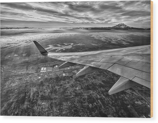 Above Seattle Wood Print