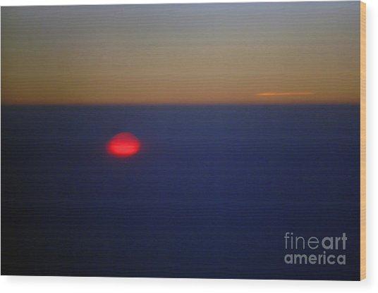 Above The Sunset Wood Print by Gib Martinez