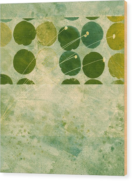 Abstract 207 Wood Print by Ann Powell