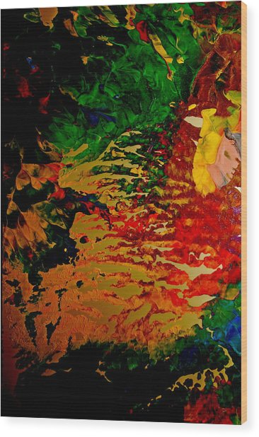 Abstract Colors Wood Print by Gloria Warren