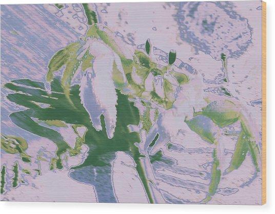 Abstract Crab1 Wood Print