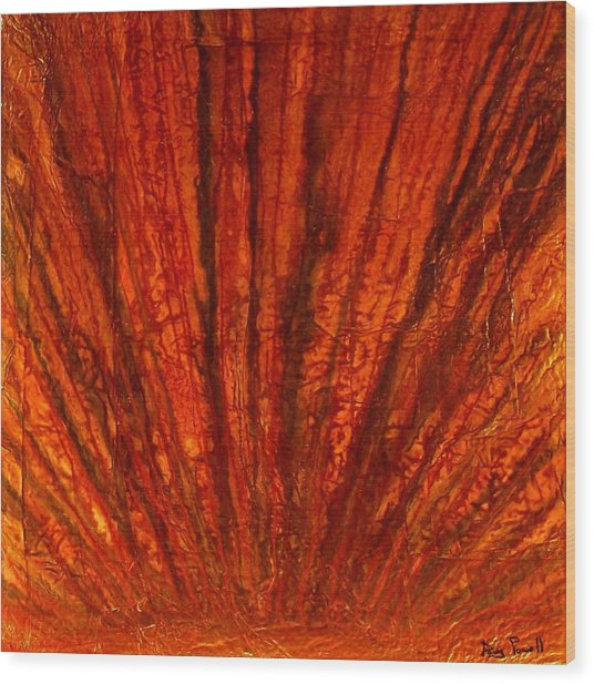 Abstract Flash 2.2 Wood Print