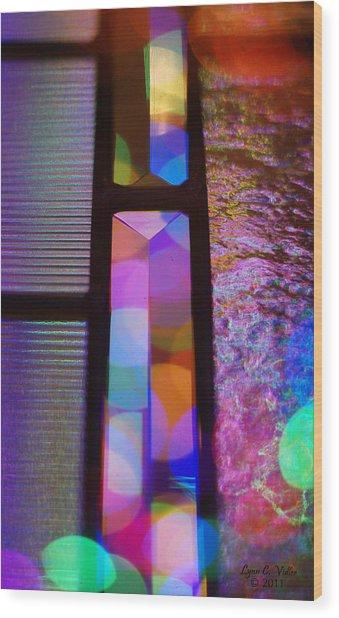 Abstract Geometry Wood Print by Lynn Vidler