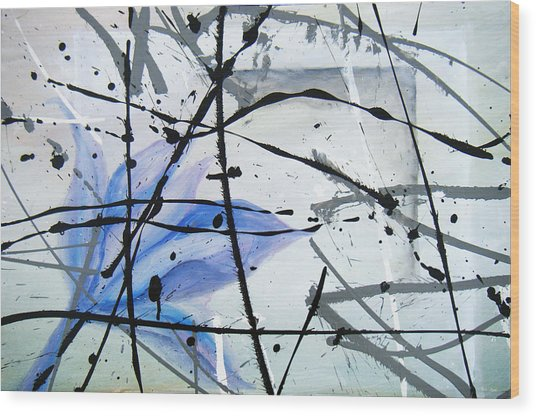 Abstract Impressionist Wood Print