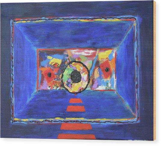 Abstract Interior Wood Print