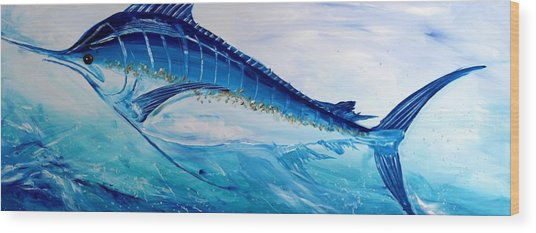Abstract Marlin Wood Print