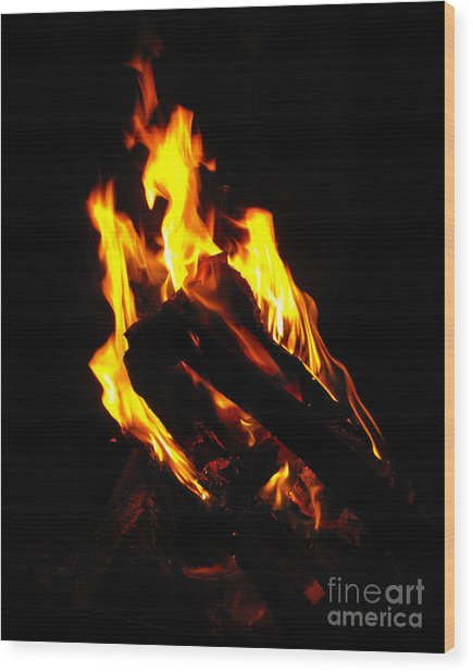 Abstract Phoenix Fire Wood Print
