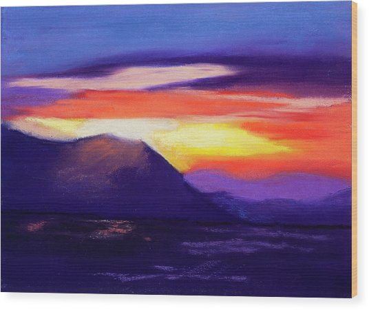 Abstract Sunset Wood Print by Diana Tripp