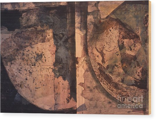 Abstract Trax I Wood Print by Charles B Mitchell