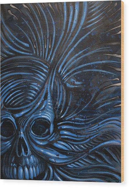 Abstracted Skull Wood Print by Joshua Dixon