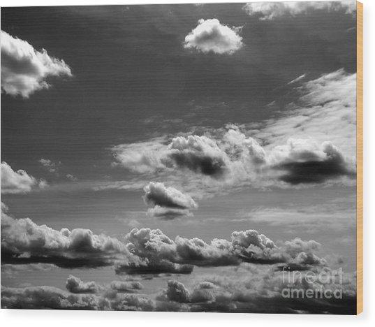 Across Sky Wood Print