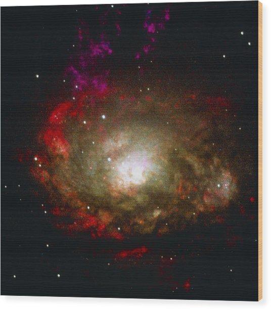 Active Galaxy Wood Print by Nasaesastscia.wilson, Umd, Et Al.