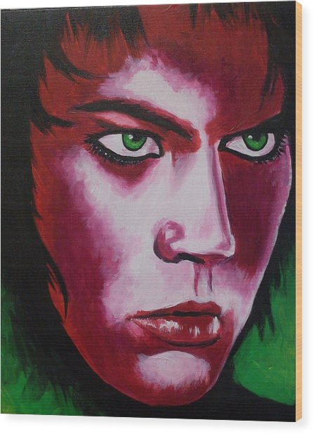 Adam Lambert - Intensity Wood Print