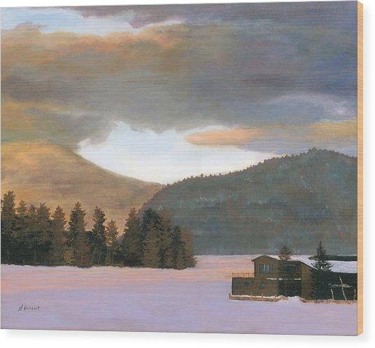 Adirondack Morning Wood Print