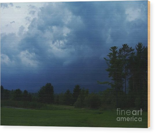 Adirondack Thunderstorm Wood Print by Peggy Miller