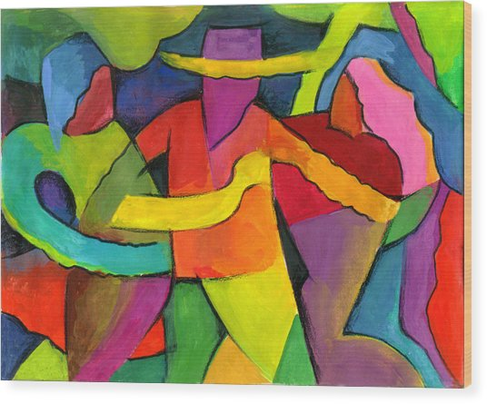 Adoracion Wood Print by John Crespo Estrella