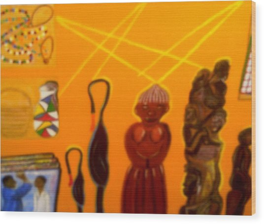 African Arts And Crafts Wood Print by Annette Stovall
