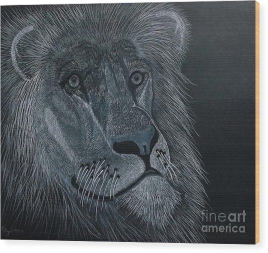 African King Wood Print