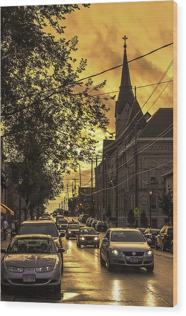 After The Rain Wood Print by Michael Wessel