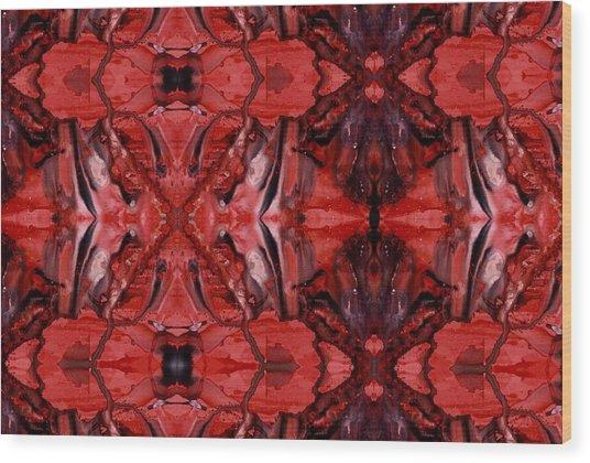 Afterglow Pattern Wood Print by Dan Cope