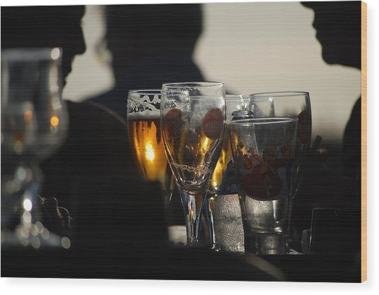 Afternoon Drinks Wood Print by Dickon Thompson