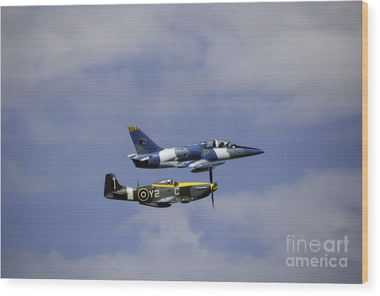 Air Show 2 Wood Print by Darcy Evans