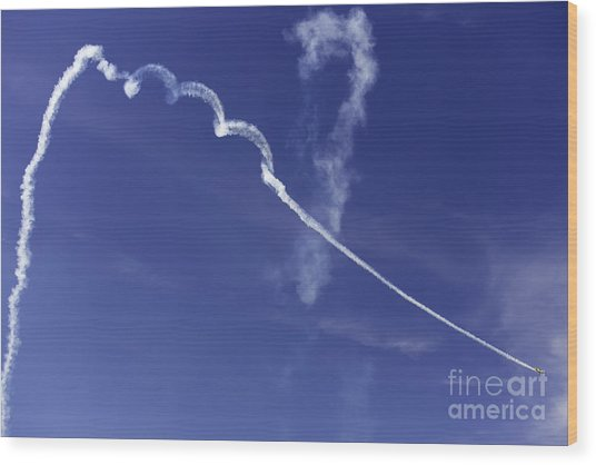 Air Show 9 Wood Print by Darcy Evans