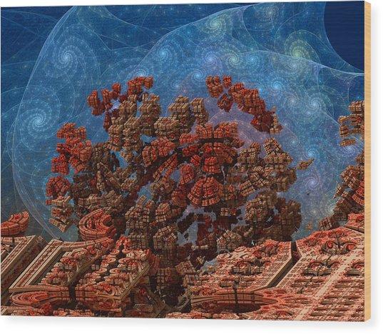 Airlock Malfunction Wood Print by Pam Blackstone