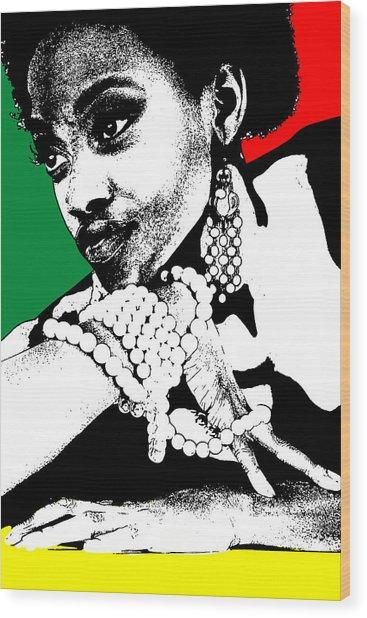 Aisha Jamaica Wood Print by Naxart Studio