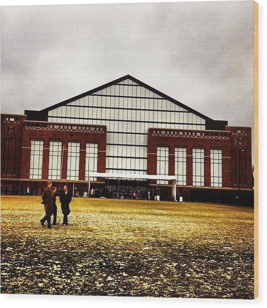 Al Glick Field House Wood Print