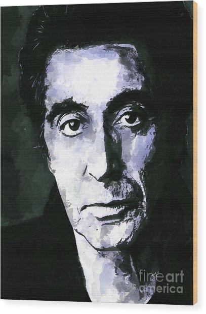Al Pacino  Wood Print by Andrzej Szczerski