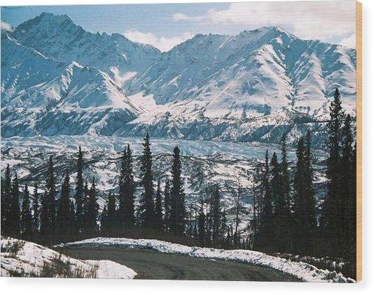 Alaska Icefield Wood Print