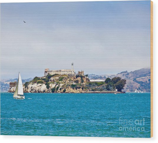 Alcatraz - San Francisco Wood Print